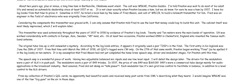 Bartlesville Kilowatt Transmitter