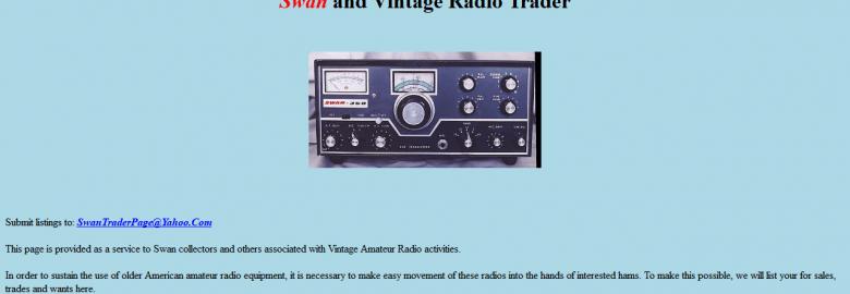 Swan and Vintage Radio Trader