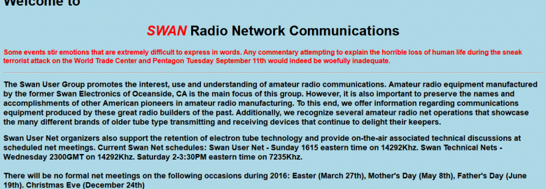 Swan Radio Network Communications
