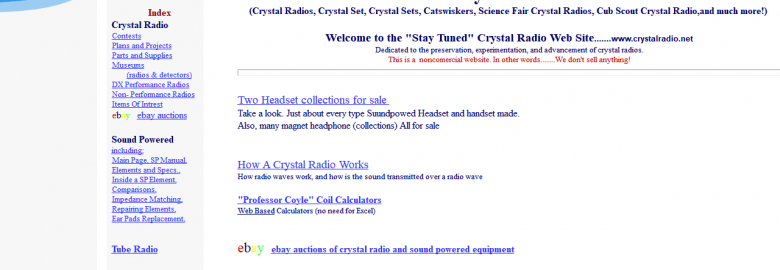 Crystal Radio and Tubes