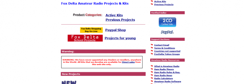Fox Delta Amateur Radio Projects and Kits