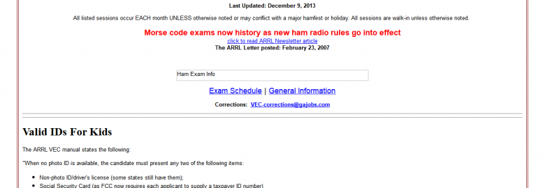 Metro Atlanta Exam Information