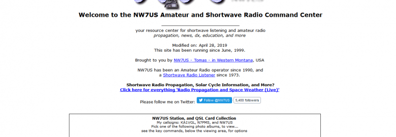 NW7US Amateur and Shortwave Radio Command Center