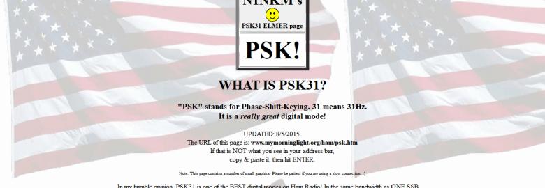 N1NKM's PSK31 ELMER page