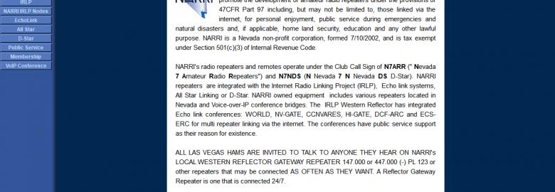 Nevada Amateur Radio Repeaters