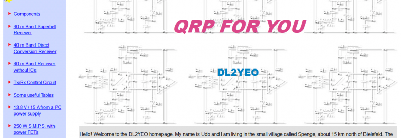 QRP and Homebrew by DL2YEO