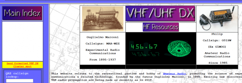 G0ISW HF/VHF DX Ultimate Resource Site
