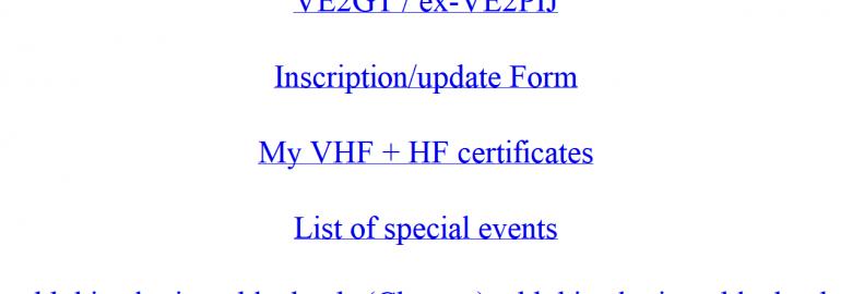 VE2PIJ VHF+ Weak Signal Site
