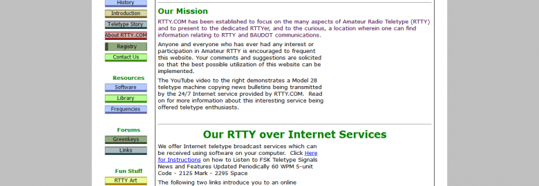 Amateur Radio Teletype (RTTY)