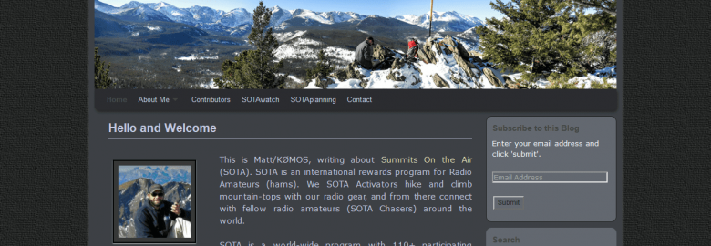K0MOS: Summits on the Air (SOTA): Trip-reports