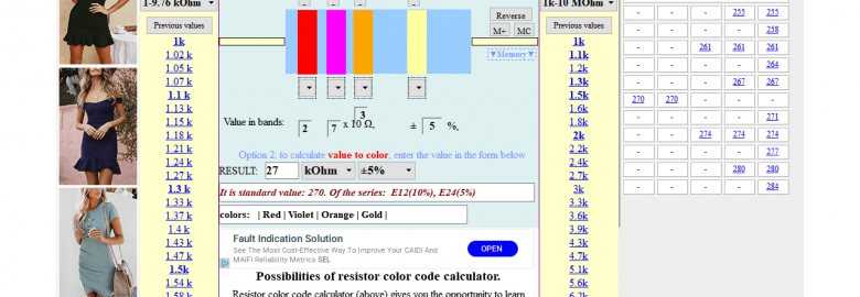 Resistor Color Code Calculator.