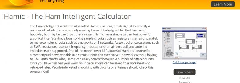 HAMIC – Ham Intelligent Calculator